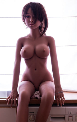 carrie 140cm japanese medium tits skinny red hair tan skin tpe wm asian small sex doll(10)