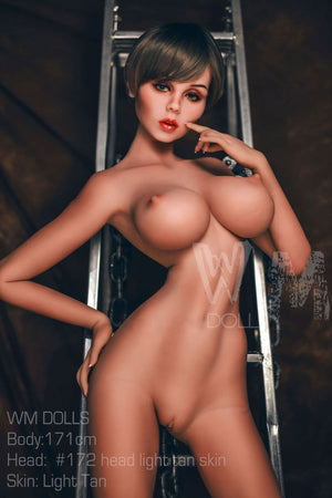 kristina 171cm 5ft6 brown hair fantasy featured big boobs tan skin tpe wm sex doll(6)