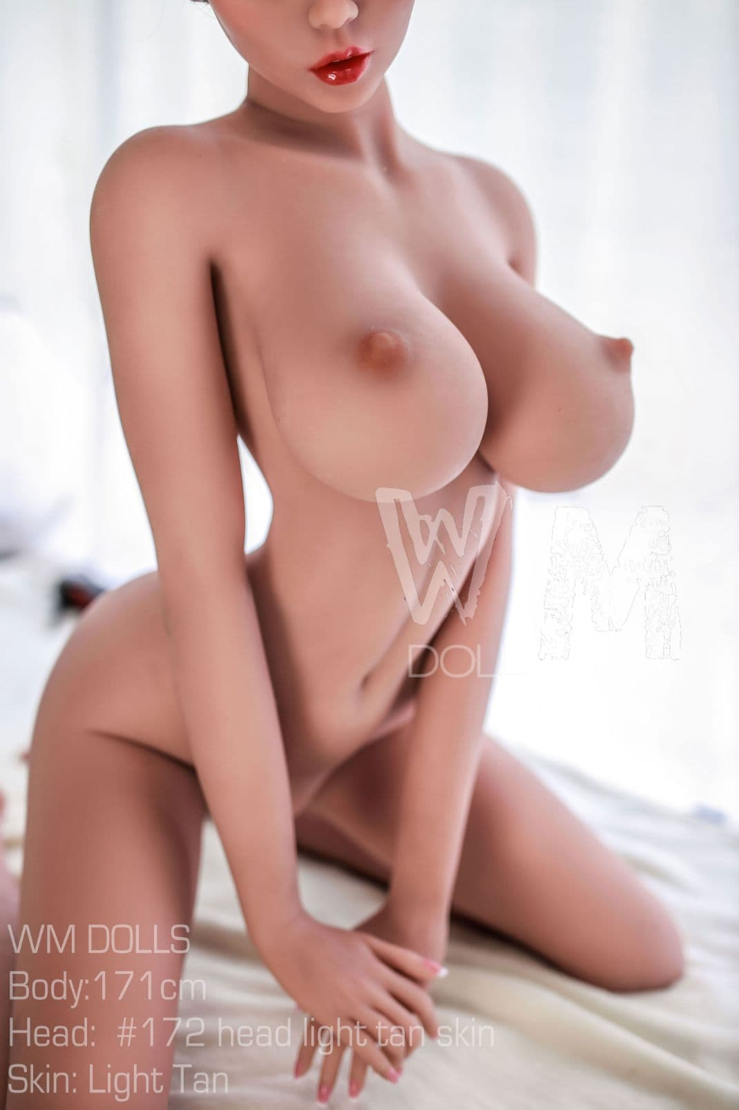 kristina 171cm 5ft6 brown hair fantasy featured big boobs tan skin tpe wm sex doll(8)