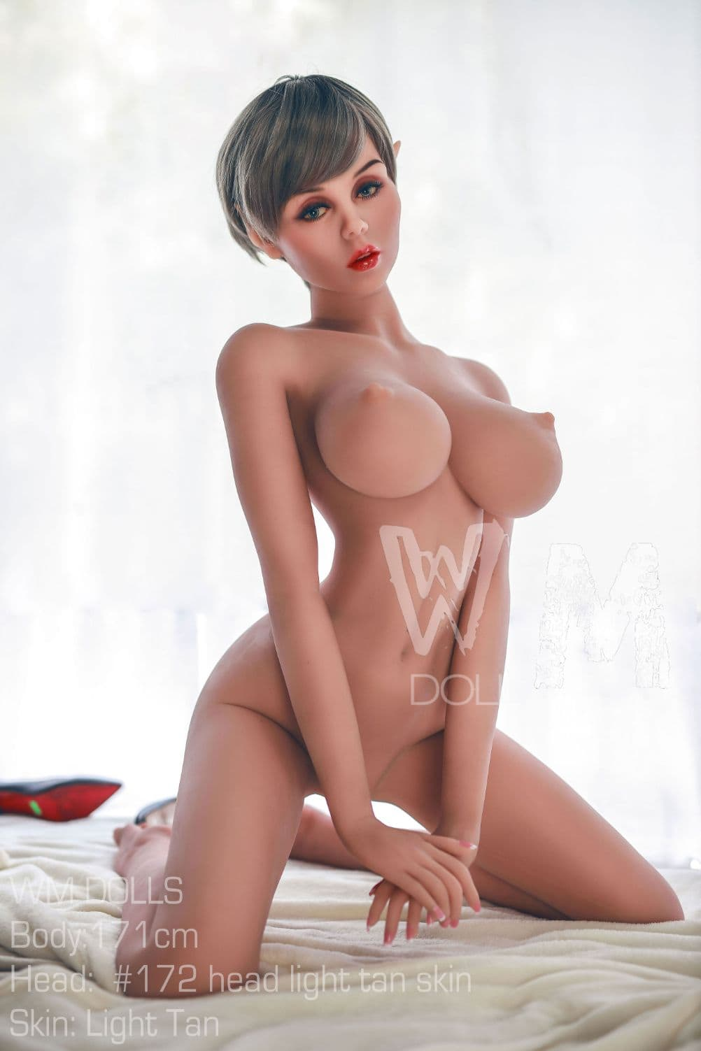 kristina 171cm 5ft6 brown hair fantasy featured big boobs tan skin tpe wm sex doll(9)