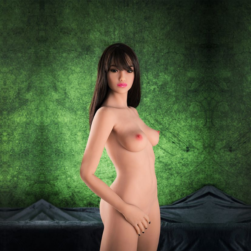 sandi 158cm brown hair hr skinny flat chested tpe sex doll(10)