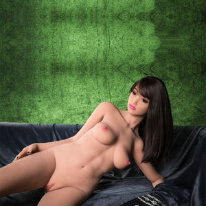 sandi 158cm brown hair hr skinny flat chested tpe sex doll(6)