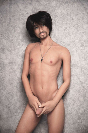 jordan 165cm af black hair male tan skin tpe gay boy sex doll(10)