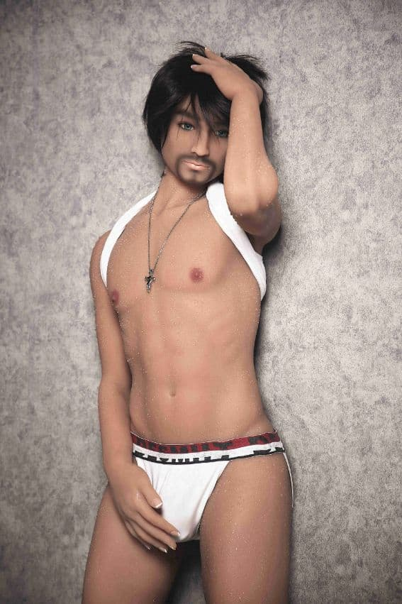 jordan 165cm af black hair male tan skin tpe gay boy sex doll(2)