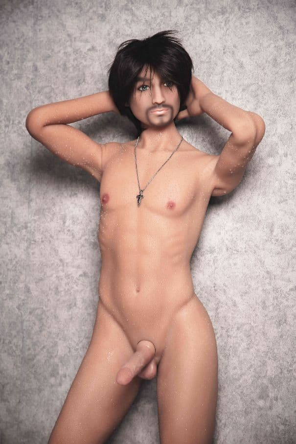 jordan 165cm af black hair male tan skin tpe gay boy sex doll(8)
