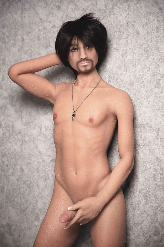 jordan 165cm af black hair male tan skin tpe gay boy sex doll(9)