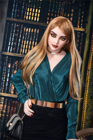 estelle 165cm brown hair skinny flat chested tpe sex doll