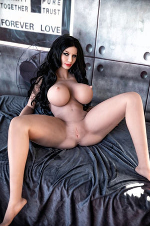 meredith 162cm black hair curvy hr giant massive tits tpe sex doll(10)