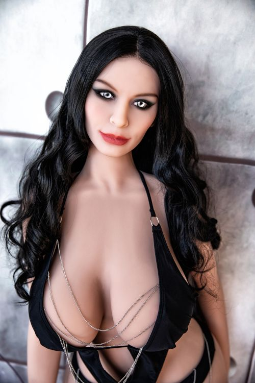 meredith 162cm black hair curvy hr giant massive tits tpe sex doll(5)
