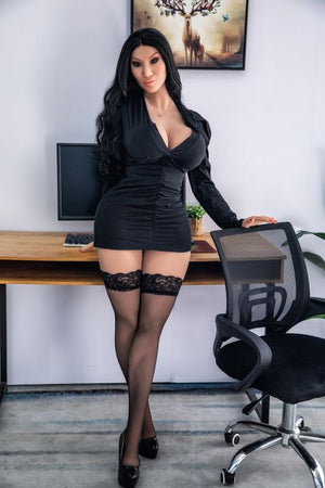 franne 162cm black hair curvy hr giant massive tits tpe sex doll(11)