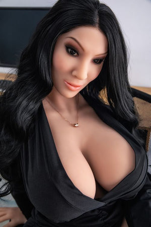 franne 162cm black hair curvy hr giant massive tits tpe sex doll(2)