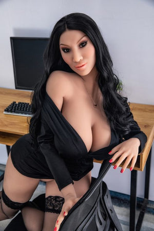 franne 162cm black hair curvy hr giant massive tits tpe sex doll(3)