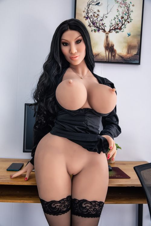 franne 162cm black hair curvy hr giant massive tits tpe sex doll(4)