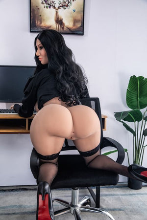 franne 162cm black hair curvy hr giant massive tits tpe sex doll(5)