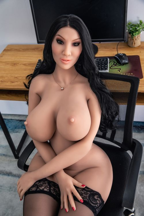 franne 162cm black hair curvy hr giant massive tits tpe sex doll(7)