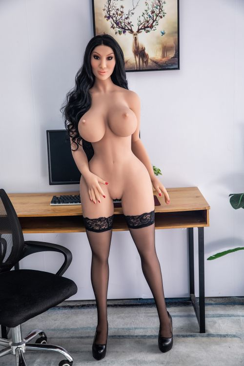 franne 162cm black hair curvy hr giant massive tits tpe sex doll(8)