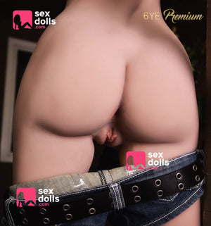 doris 165cm black hair skinny tpe flat chested tan skin sex doll(10)
