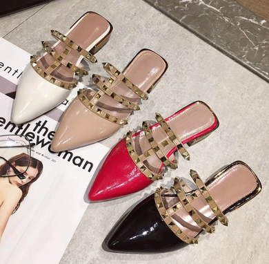 Studded Loafers