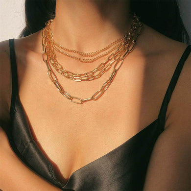 Multi Layer Mixed Chain Necklace