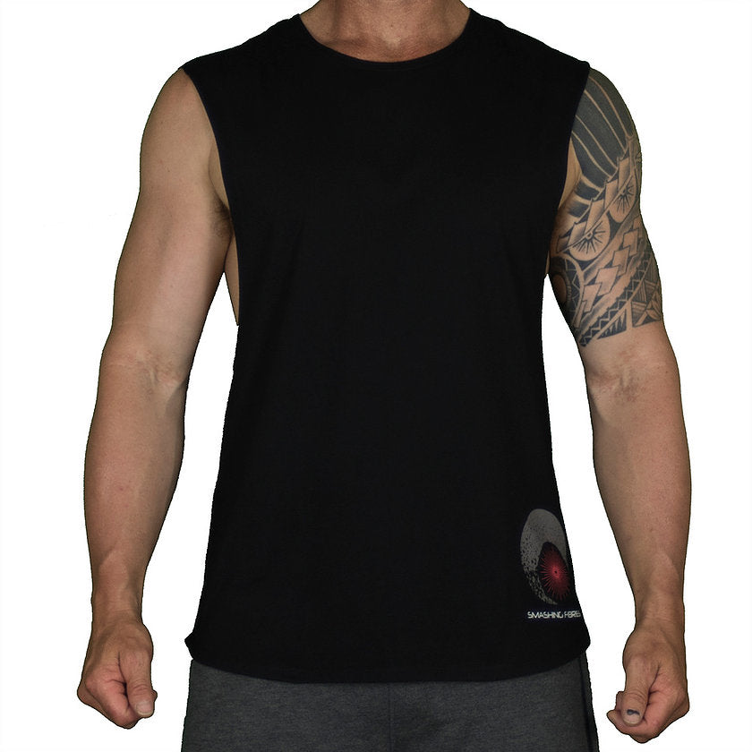 DEEP CUT MUSCLE T – BLACK