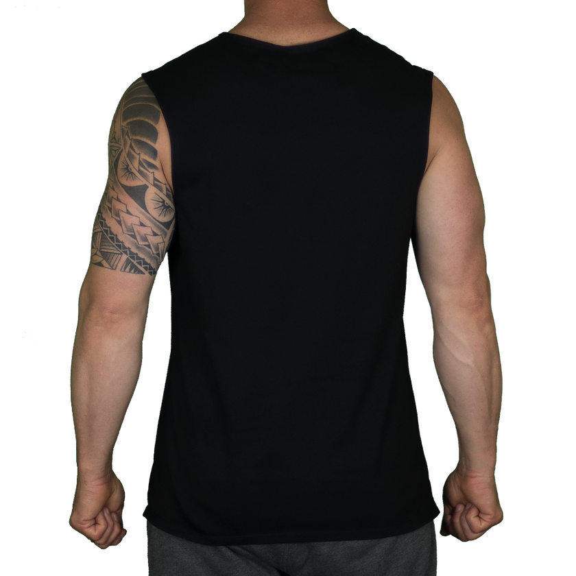 NORMAL CUT MUSCLE T – BLACK