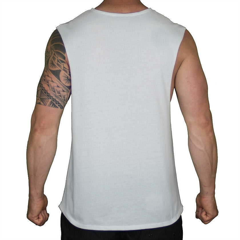 NORMAL CUT MUSCLE T – WHITE