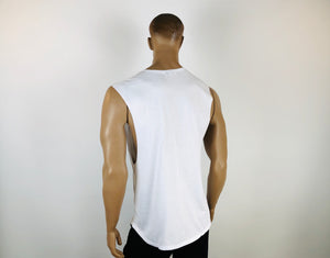OG DEEP CUT MUSCLE T – WHITE
