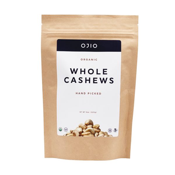 Whole Cashews | Organic | Kosher - 8 oz