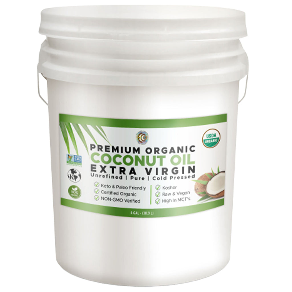 Coconut Oil |  Organic | Kosher | Unrefined - 5 Gallon