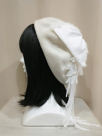 ANGEL WINGS BERET (WHITE)