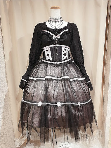 MAIDEN FLOWER DRESS (BLACK×PINK)