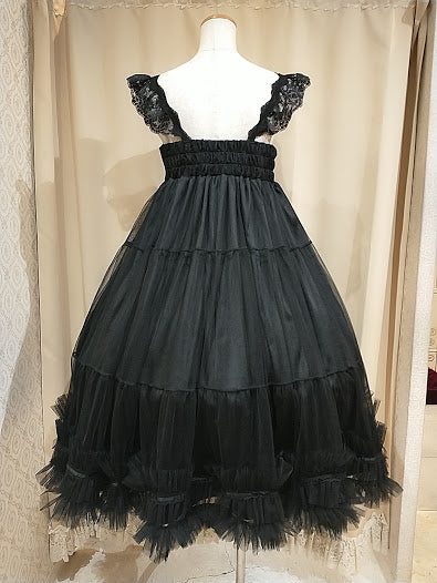TULLE TIERED DRESS (BLACK)