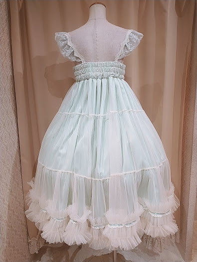 TULLE TIERED DRESS (GREEN)