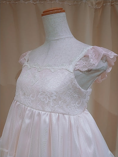 TULLE TIERED DRESS (PINK)