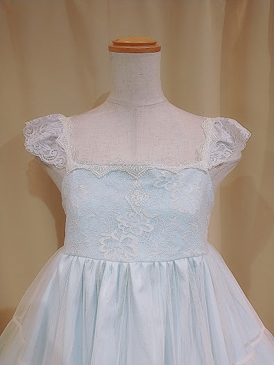 TULLE TIERED DRESS (BLUE)