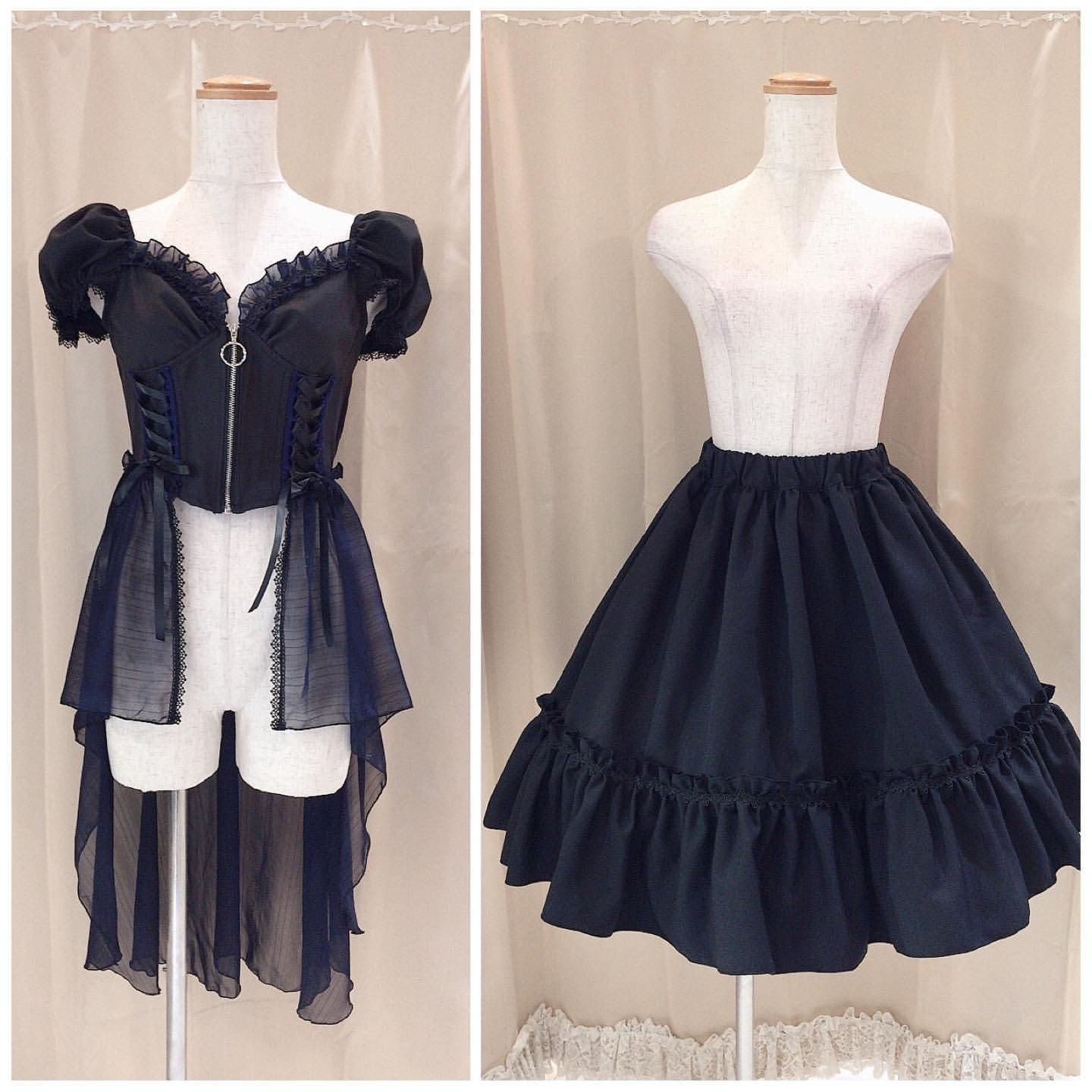 TAIL ZIP BUSTIER & SKIRT SET