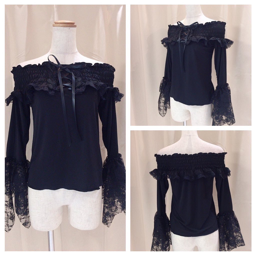 PRINCESS SLEEVE  SHIRRING TOP