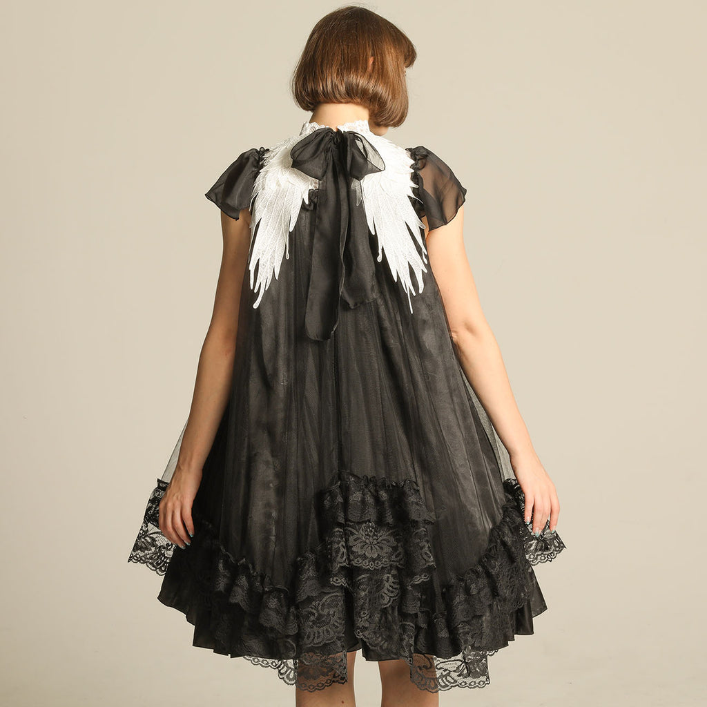 ANGEL WING LACE UP DRESS