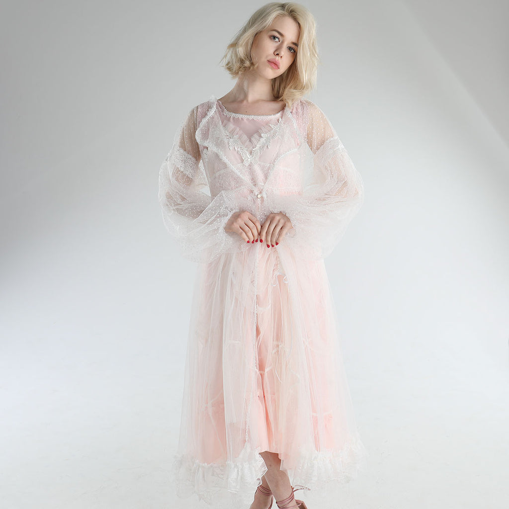 DOT TULLE DRESS ROBE