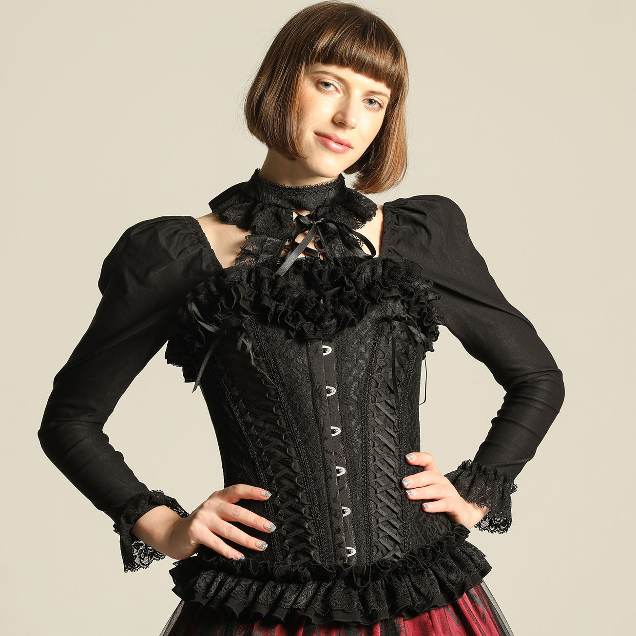 DOUBLE LACE UP FULL CORSET