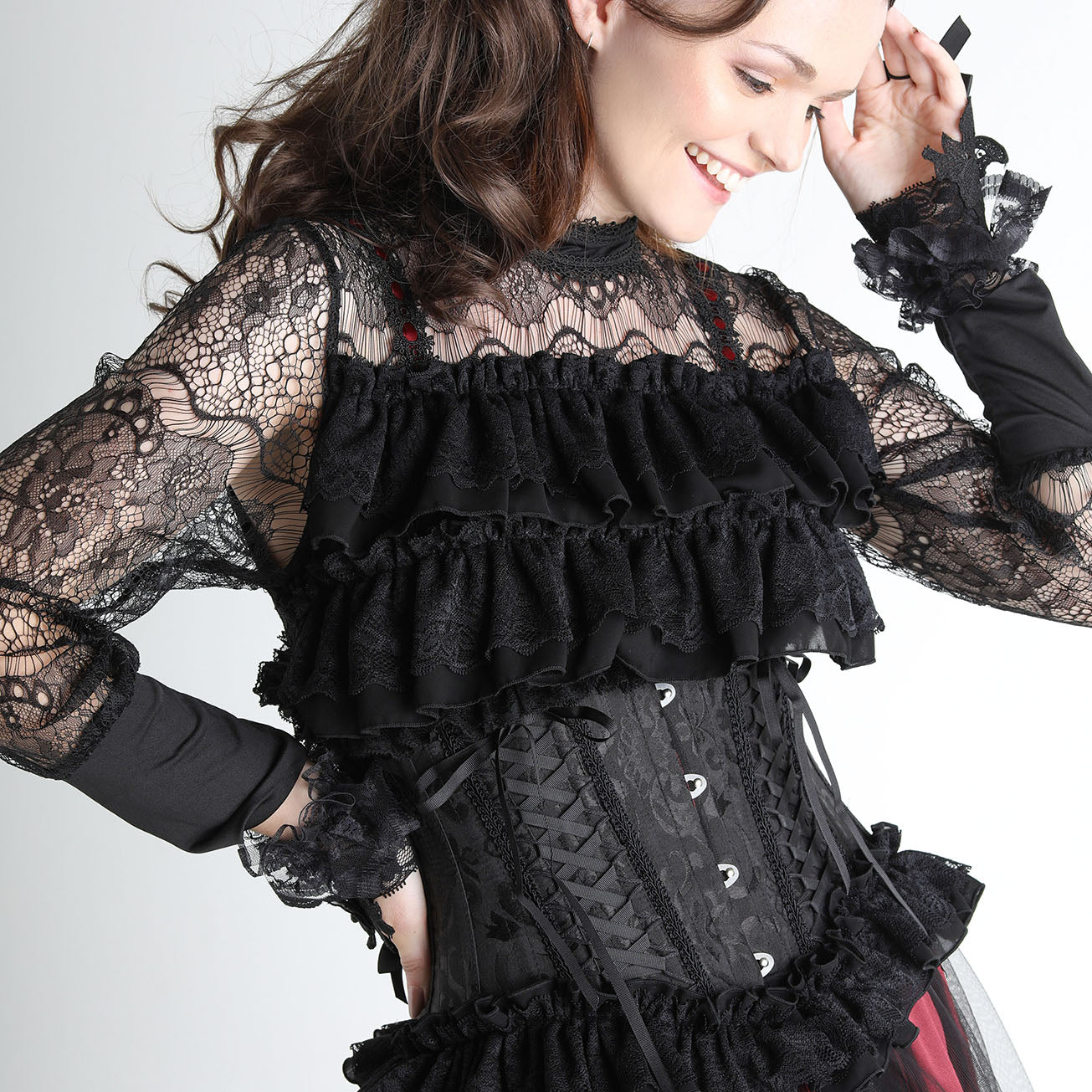 DOUBLE LACE UP SHORT CORSET