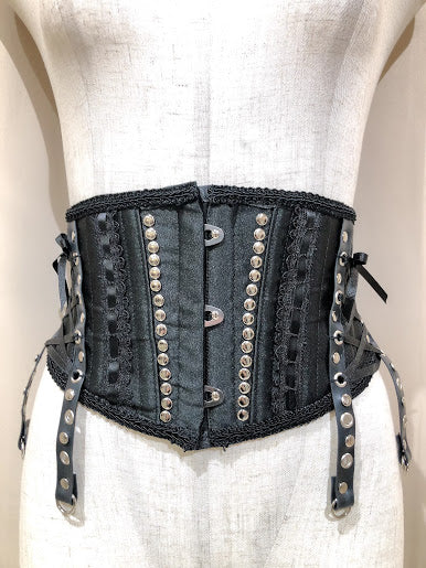 STUDS SIDE LACEUP VERY SHORT CORSET