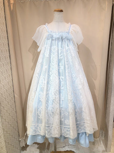 FLOWER BLOOM PRINCESS DRESS(BLUE)
