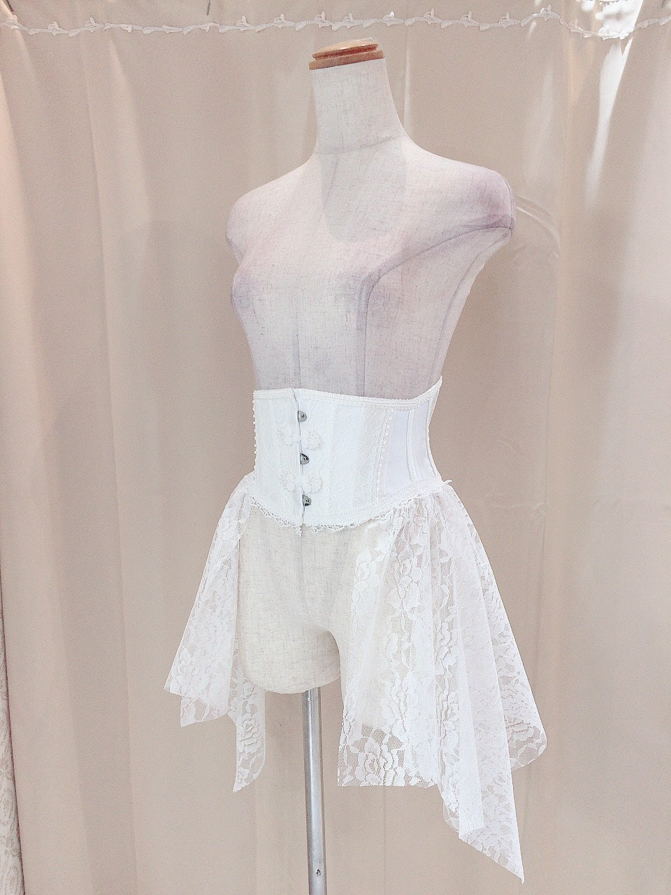 CHINA BUTTON VERY SHORT CORSET
