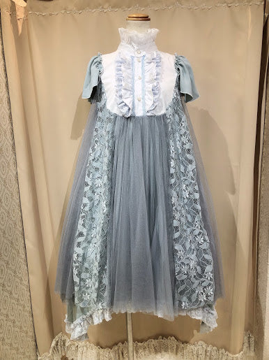 ANTIQUE DOLLY ANGEL WING DRESS(GRAY BLUE)
