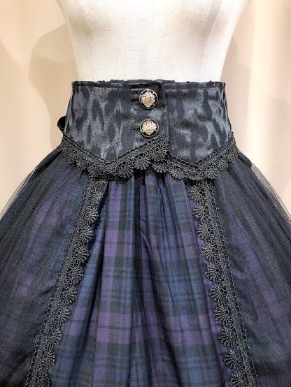 HIGH WAIST FISHTAIL SKIRT (D.PURチェック柄)
