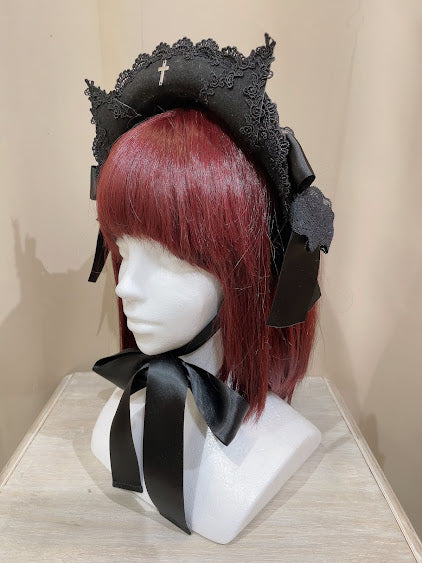 CROCHET LACE ANGEL WING DRESS (PINK Plain ver.)