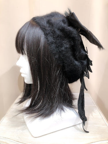 ANGEL WINGS BERET (BLACK)