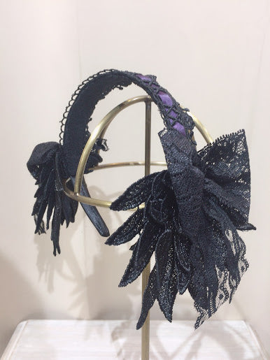 MINI ANGEL WING HEAD BAND (BLACK-PURPLE)