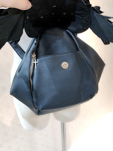 FAKE LEATHER WING BAG